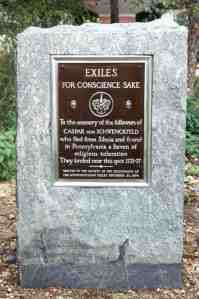 The Exile Society Plaque at Penn's Landing