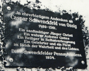 Plaque on wall of Ossig Church (whereabouts unknown)